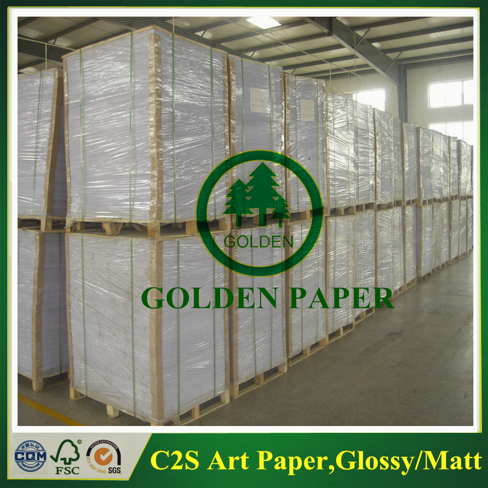 80g ~ 200g glossy art paper coated 2 side paper for printing and writing
