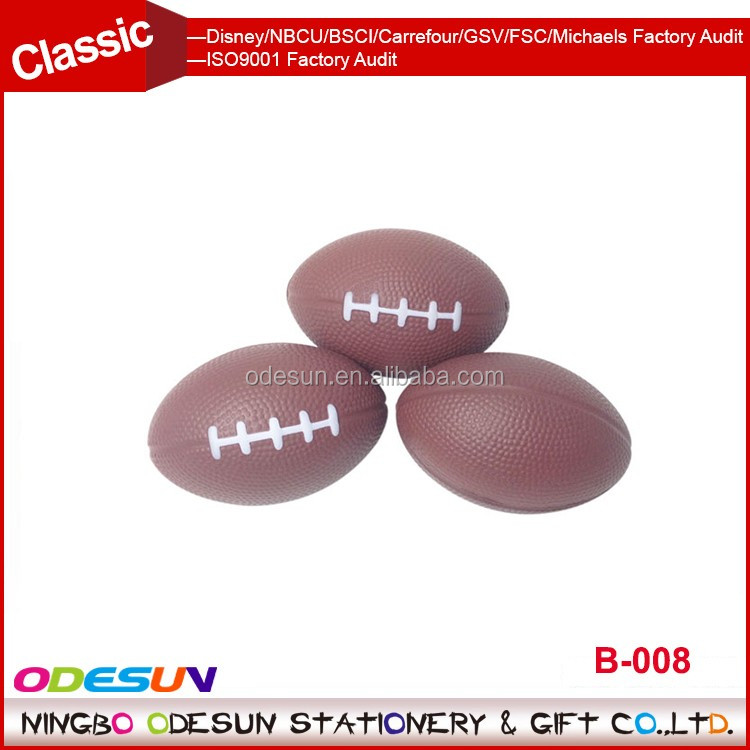 Universal NBCU FAMA BSCI GSV Carrefour Factory Audit Manufacture wholesale soft foam rugby stress ball