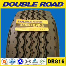 High Quality DOUBLE ROAD Truck Tyre 385/65R22.5 used for Trailer