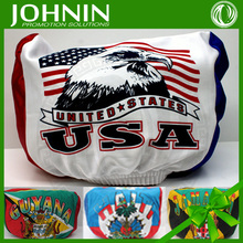 football fan polyester excellent quality custom headrest cover for car