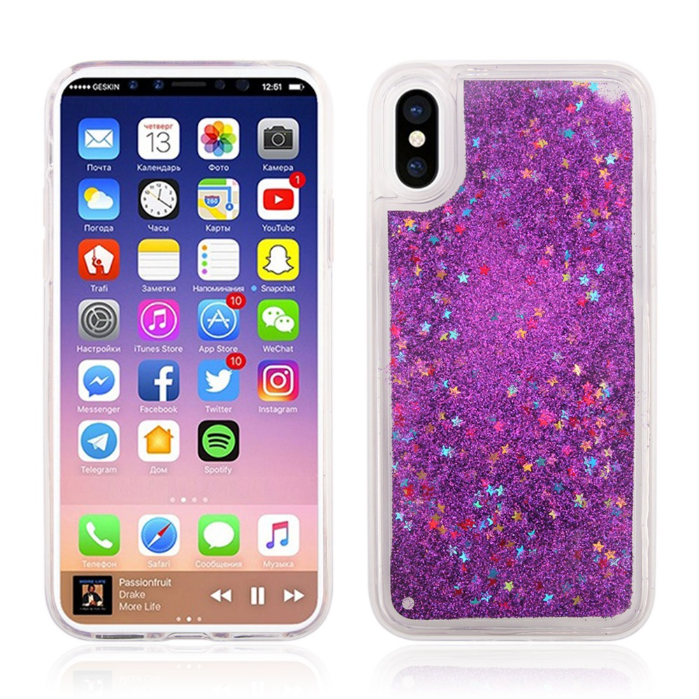 Phone Case for Apple iphone 6S Case, Glitter Rubber TPU Gel Soft Mobile Phone Cover for iphone 6S Shell case