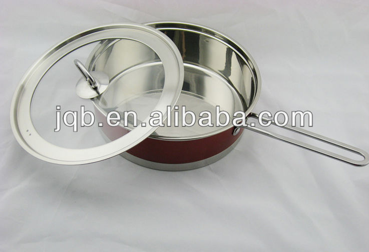 Colorful stainless steel steam cooking pot&cookware set