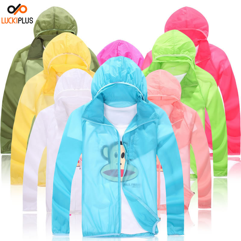 Luckiplus Sun Protection Clothing Foldable Waterproof Anti-UV Clothing 8 colors S/M/L/XL/XXL Transparent Jacket