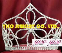 fashion flower bride pageant beautiful crown ornaments tiara crowns