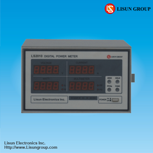 LS2010 digital harmonic power meter to measure voltage, current, power, power factor and THD data with high accuracy
