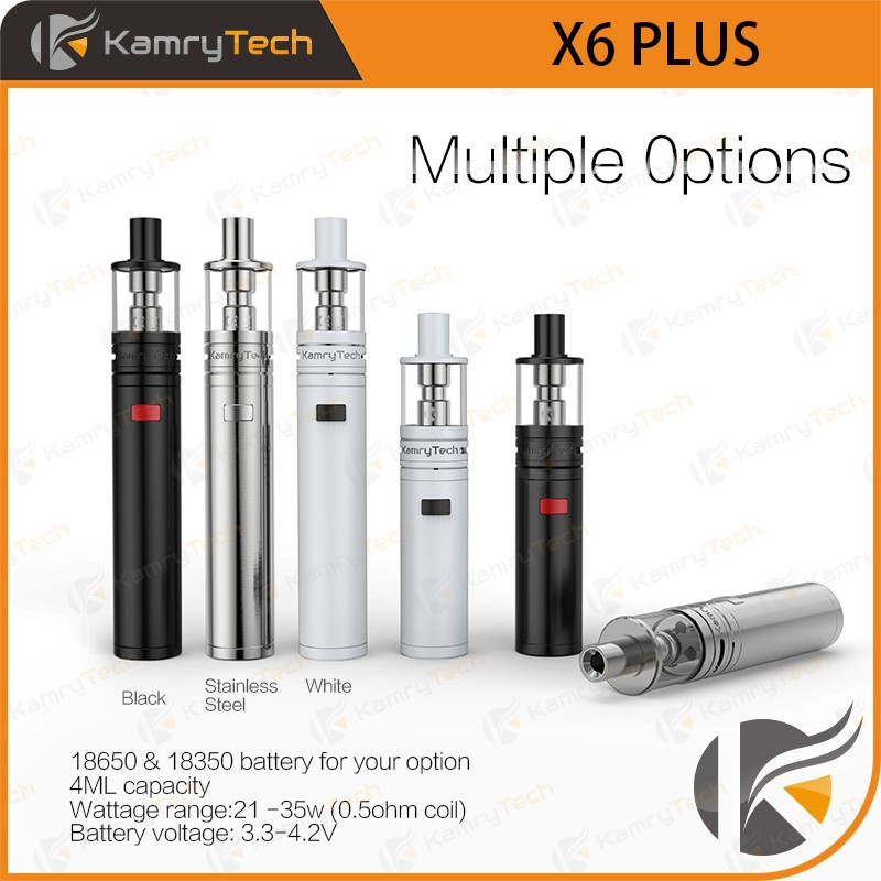 import electronic cigarette removable battery 0.1 ohm compatible X6 PLUS vapor 510