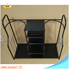Metal golf bag storage rack for balls and shoes