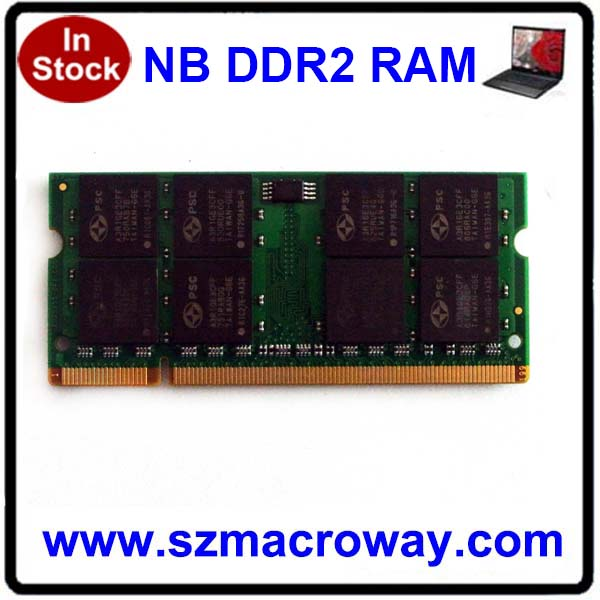 China computer hardware Ddr2 2gb Notebook Ram Memory 667