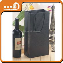 new arriving christmas wine gift paper bags with logo
