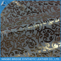 cheap and good quality pu leather printed fashion shoes fabric