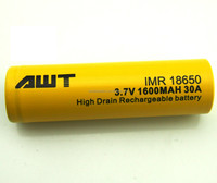 AWT 18650 li ion rechargeable 1600mAh 30A 1.2v ni cd battery for time keeper mod 12v 20ah e-bike lead acid battery