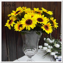 7stem Head Artificial Flowers Heads Fabric Floral Supplies Artificial Sunflower FZH146