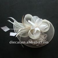white bridal fashion hair claw with plastic claw