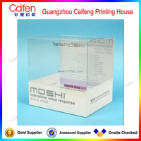 2015 hot selling white and transparent cosmetic PVC/PET box