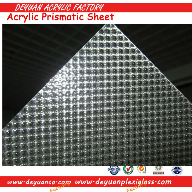 Various PMMA & Polystyrene prismatic sheet for lighting products