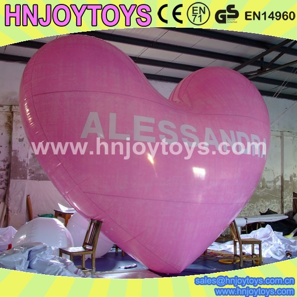 LED inflatable heart balloon/hot air balloon inflatable for sale /toys