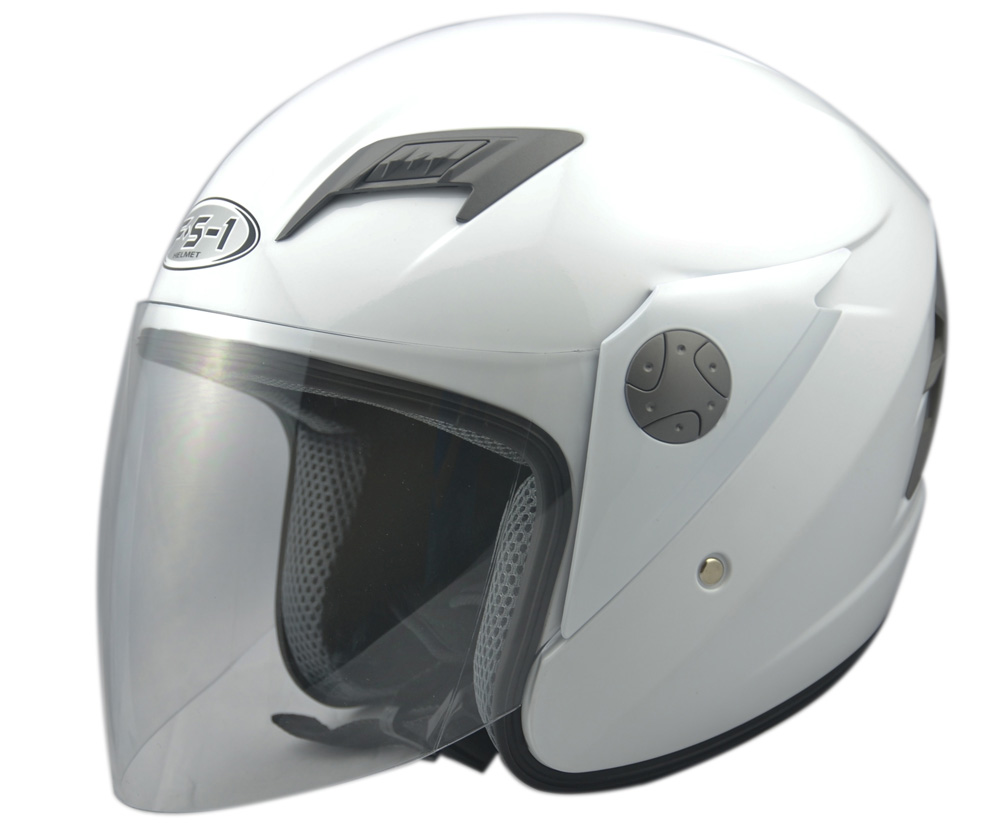 Hot sale ABS white color decals helmet Cheapest open face motorcycle helmets