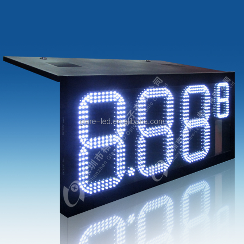 Shenzhen electronic billboards 4 digits led fuel price sign 7 segment gas station number signs for sales