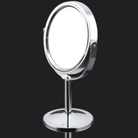 Decobrous 3-inch mini Desktop Two-sided Swivel Vanity Mirror with 2x Magnification in chrome finish