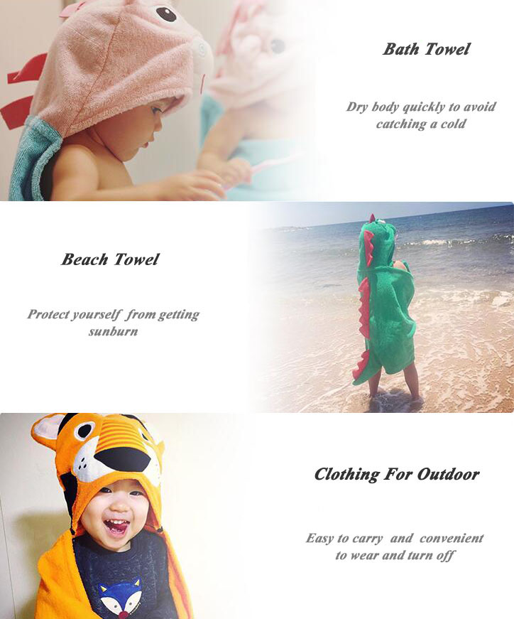 alibaba China multi wear children hooded beach towel dress