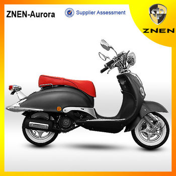 2016 ZNEN Hot selling 50cc eec moped scooter Cheap pedal and good appearance gas and electric scooter