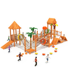 Customized Commercial Wooden Combination Slide Outdoor Playground