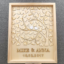 Love Tree Wood Wedding Guest Book