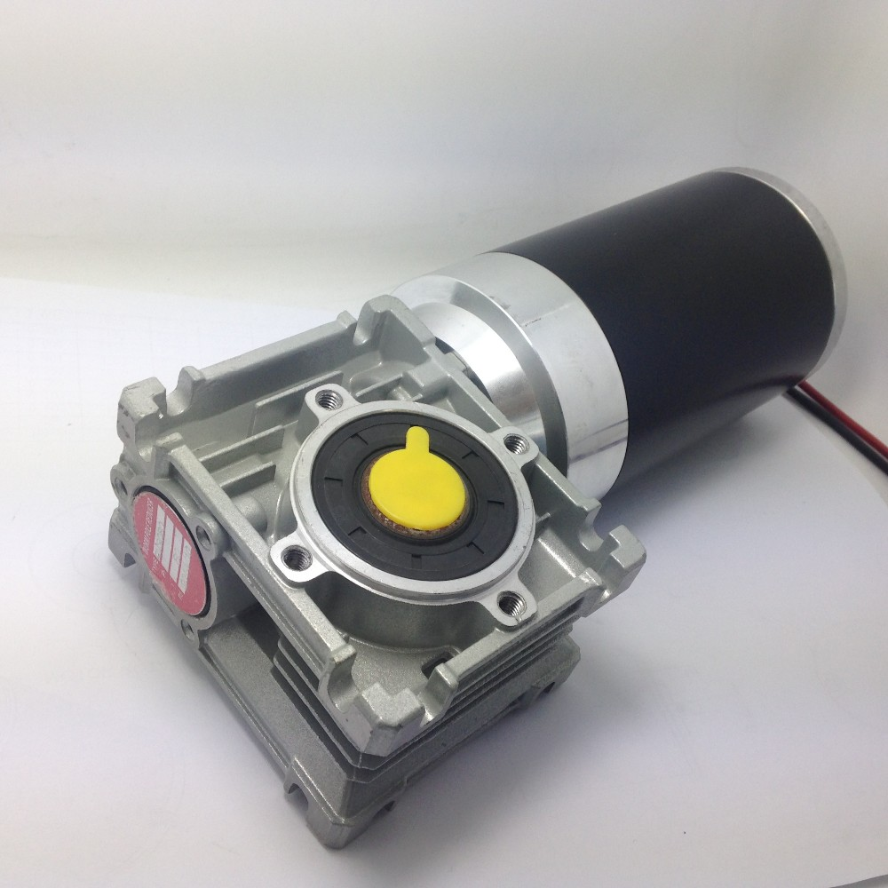 12V 24V 36V 100W 200W 300w dc worm gear motor with brake system for electric wheel-barrows