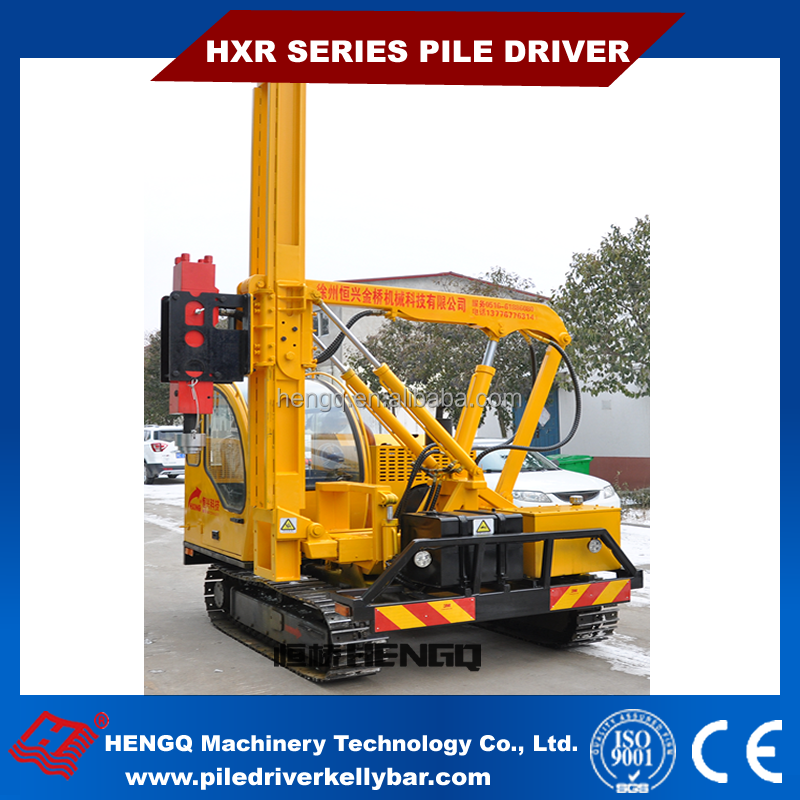 HENGQ Supply piling rig mini pile driver rubbers Crawler piling machine