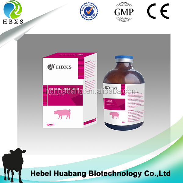 Antibacterial Agent Tylosin Injection 20%