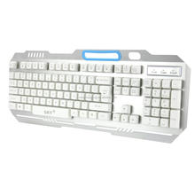 The Ergonomic design best wired multimedia LED backlight Gaming keyboard with phone holder