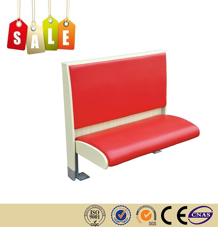 Restaurant chair leather metal legs corner bench seating on sale