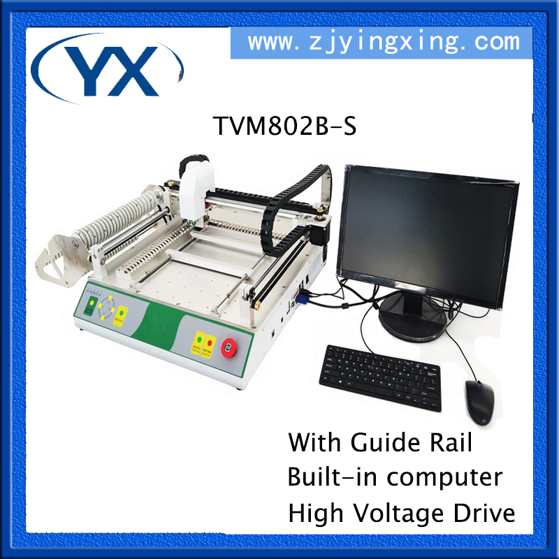 LED Mounting Machine PCB Soldering Machine TVM802B-S,Guide Rail+Built-in Computer+High Voltage Drive