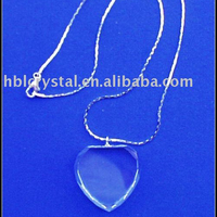 heart shape blank crystal pendant for laser engrave