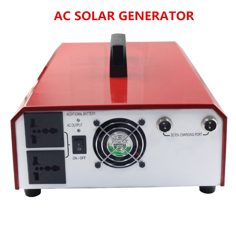500W AC portable lithium ion battery solar generators for home camping outdoors