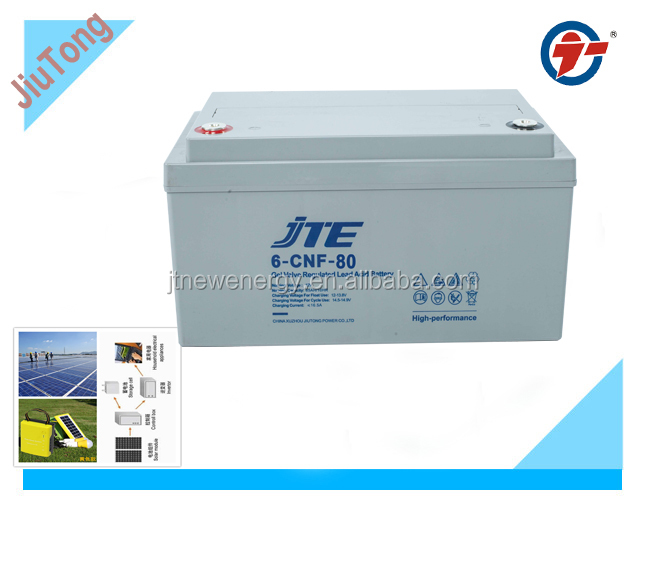 12V80ah solar batteries/ lead-acid battery for energy storage/large capacity battery for UPS