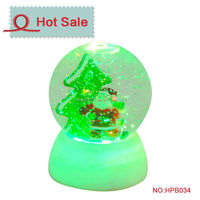 christmas motif resin mini succulents water globe examples of handicraft