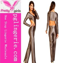 Wholesale Ladies Trousers Long Sleeve Bodycon Romper Clubwear Jumpsuit