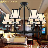 dinning room black metal iron chandelier pendant 6 lamps