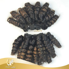 Custom Best Quality Mix Color 7a Grade Virgin Brazilian Funmi Hair Beyonce Curl