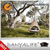 DYBED-D110G DANYALIFE Hot sale Wicker Hanging Round Outdoor Rattan Daybed
