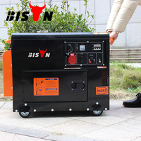 BISON China TaiZhou 5kw AC Three Phase Air Cooled 6500 Diesel Generator