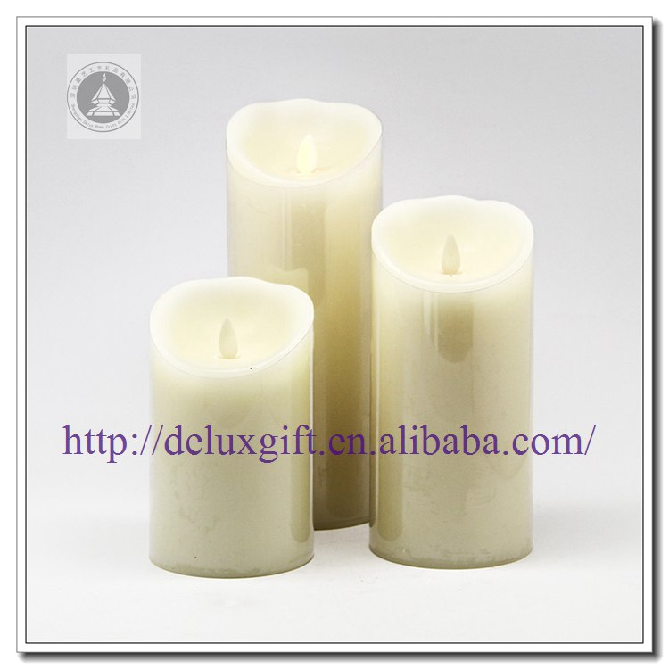 3pcs Dancing Flame LED Candles with timer moving wick led candles Set of 3 Moving Wick Flameless Candles with