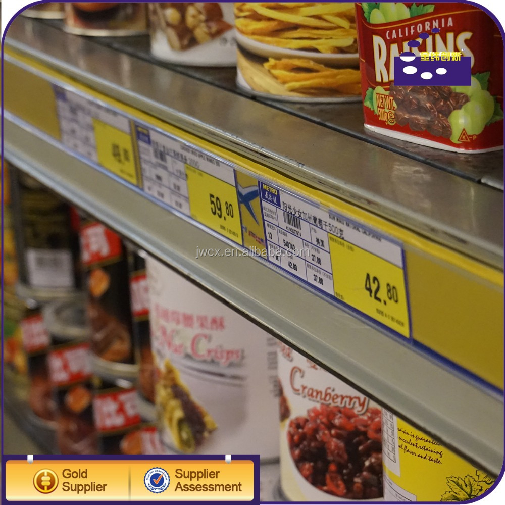 Customize Supermarket Price Tag / Shelf Label For Store