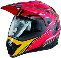 China DOT approved double visor off road ATV dual sport helmet