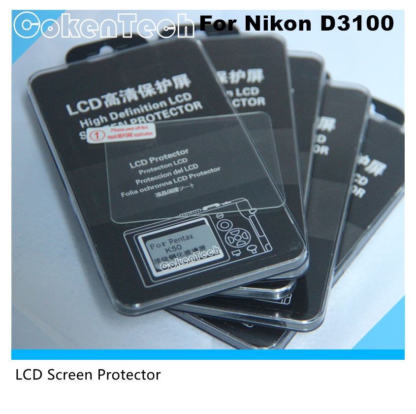 Clear Optical Tempered Glass LCD Screen Panel Film Protector 0.3mm HD Protective Guard Waterproof Cover for Nikon D3100