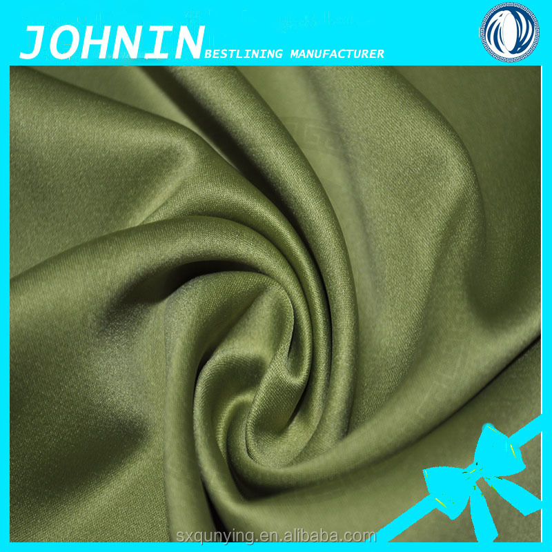 100%polyester stretch fabric Polyester stretch satin fabric for dress/Swatch for 140g/m spandex satin/Hongway satin ready goods