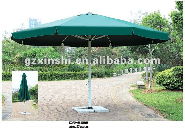 China sun umbrella supplier outdoor furniture patio center post large big size beach sun umbrella/ parasol
