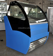 Imported compressor blue color ice cream display freezer