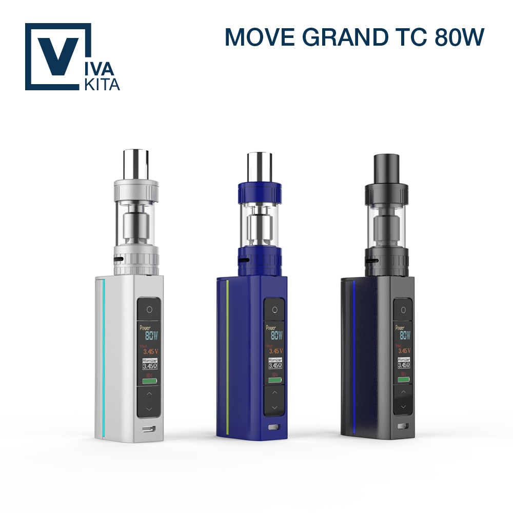 2016 wholesale Vivakita 80W TC VW mode Ti Ni SS316L NiCr coil e-cigarette kits